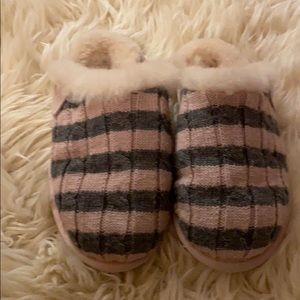 Ugg striped knitted slippers
